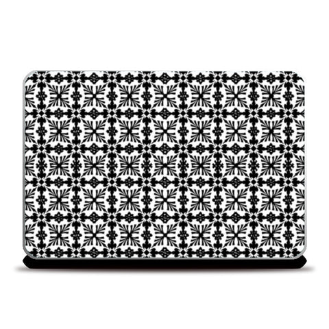 Laptop Skins, Black And White Checkered Pattern Laptop Skins | Artist : Seema Hooda, - PosterGully