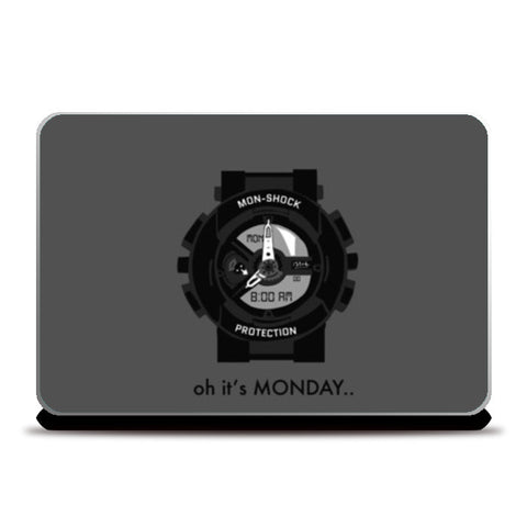 Laptop Skins, Monday shock Laptop Skins | Artist : Shravan Suresh, - PosterGully