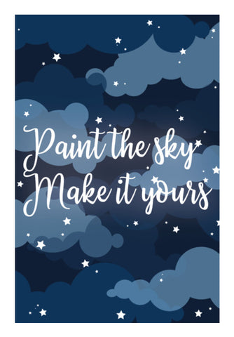 Paint the sky Wall Art | Artist : Maitreyeeee