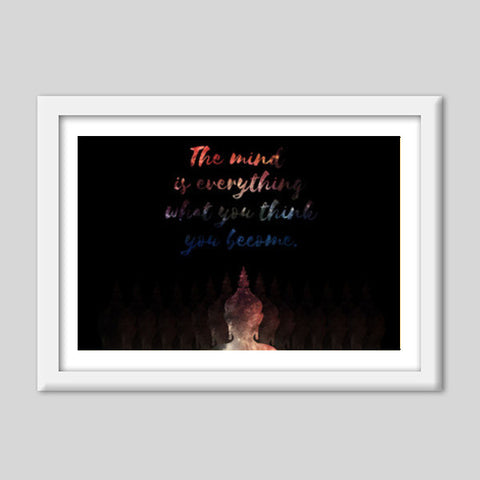 Buddha Quote - Motivational!! Premium Italian Wooden Frames | Artist : Dolly P