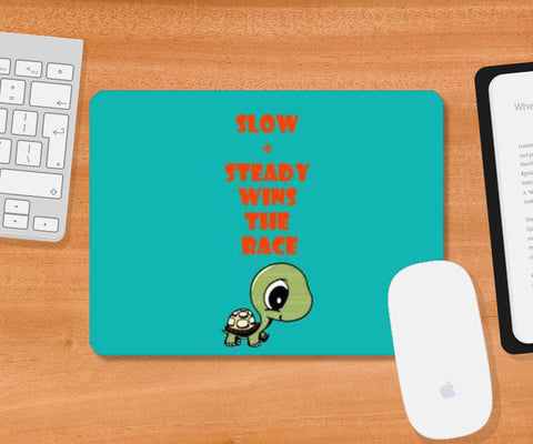 Mousepad, slow and steady wins the race Mousepad | Artist : Champa Guchait, - PosterGully