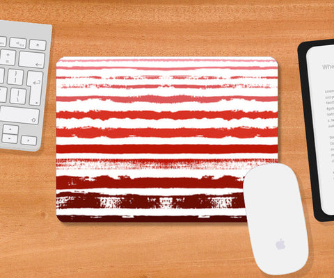 Uneven Red Stripes  Mousepad | Artist : Amantrika Saraogi