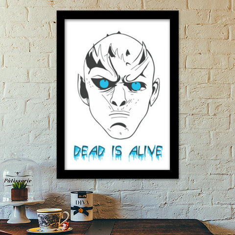 Premium Italian Wooden Frames, Game of Thrones - White Walker Premium Italian Wooden Frames | Artist : Charcoal, - PosterGully - 1
