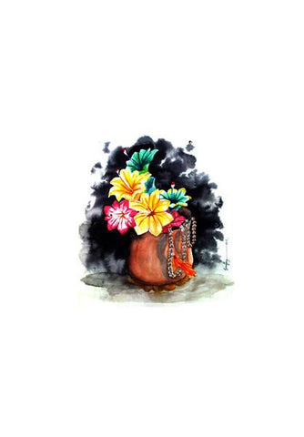 PosterGully Specials, Plastic Flowers Wall Art | Artist : Sanjay Ghosh, - PosterGully