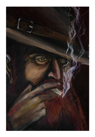 The Smoker Wall Art | Artist : Jazeel Jazim