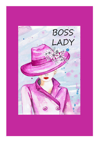 Boss Lady Modern Woman Fashion Illustration Poster Art PosterGully Specials