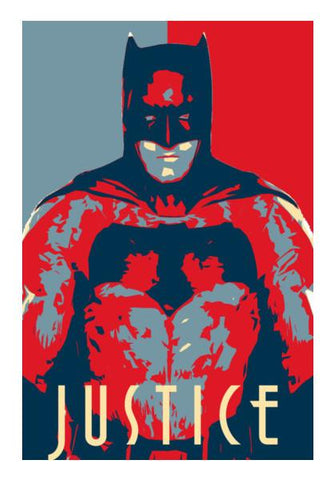 PosterGully Specials, Batman Justice Wall Art | Artist : LinearMan, - PosterGully