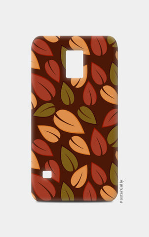 Seamless colored autumn leaves pattern Samsung S5 Cases | Artist : Designerchennai