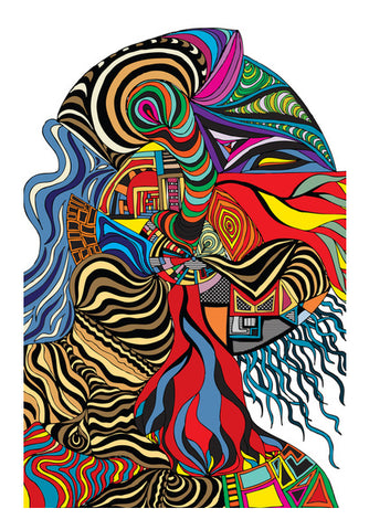 Psychedelic mania ! Wall Art | Artist : Jessica Maria