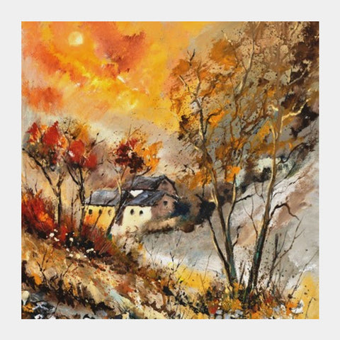 autumn 564150 Square Art Prints | Artist : pol ledent
