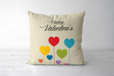 Love with colorful hearts Cushion Covers | Artist : Designerchennai
