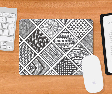 Prints in Squares Mousepad | Artist : Aniket Mitra