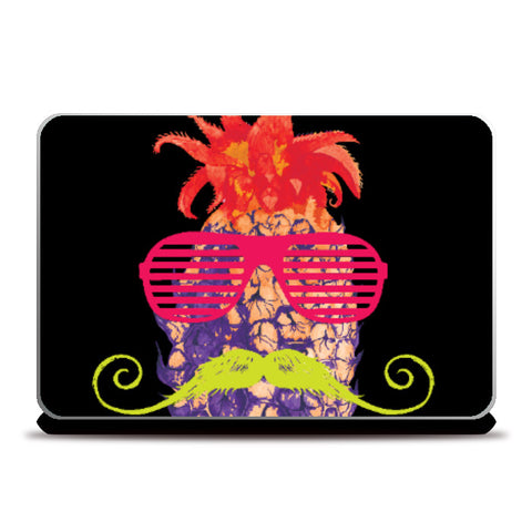 Laptop Skins, Pineapple Punk Neon Laptop Skin | Lotta Farber, - PosterGully