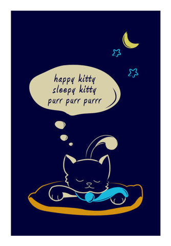 Sleepy Kitty Wall Art | Artist : Vishali Bawa