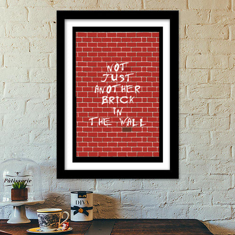 Premium Italian Wooden Frames, Pink Floyd | not just another brick in the wall Premium Italian Wooden Frames | Artist : Aishwarya S, - PosterGully - 1