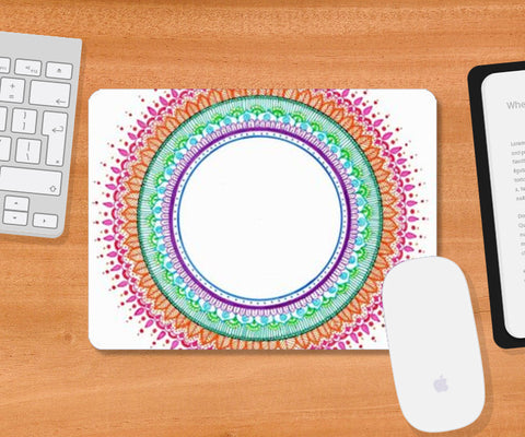 MANDALA FOCUS Mousepad | Artist : The Doodler dentist