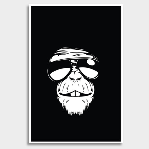 Monkey Glasses Giant Poster | Artist : Inderpreet Singh