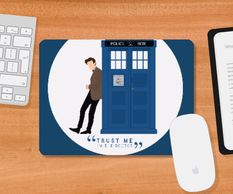 Mousepad, The Doctor and TARDIS Mousepad | Artist: Mohak Gulati, - PosterGully