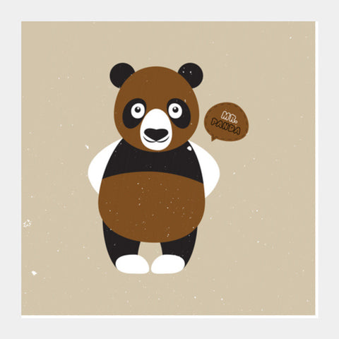 Mr.Panda Square Art Prints PosterGully Specials