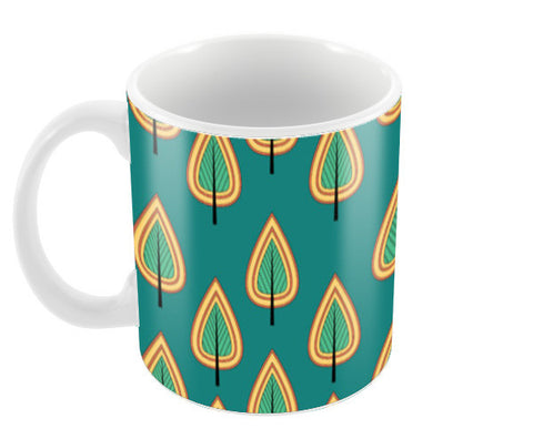 Leaf design pattern Coffee Mugs | Artist : Designerchennai