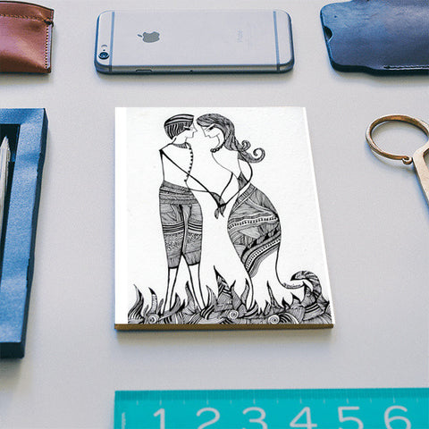 Love ~ Promises ~ Togetherness (Ink Art) Notebook | Artist : Ardour Art