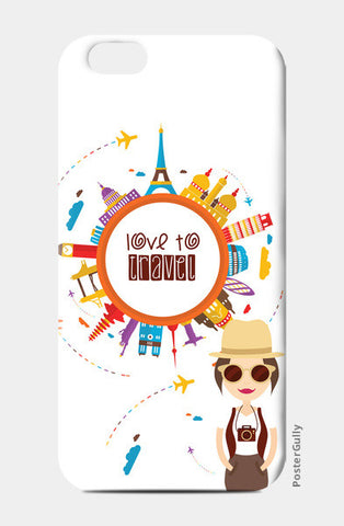The Traveller Girl! iPhone 6/6S Cases | Artist : Mitali Jadia