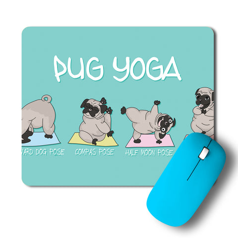 Pug Yoga Mousepad