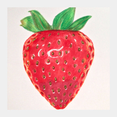 Square Art Prints, Strawberry Artwork | Artist: Anuja Katti, - PosterGully