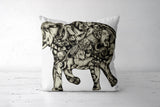 A Composite Elephant Cushion Covers | Artist : Tara Isha