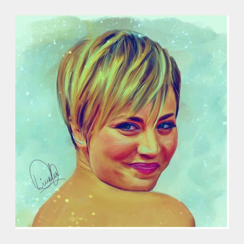 Kaley Cuoco Square Art Prints PosterGully Specials