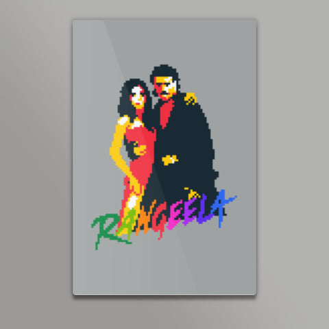 Rangeela movie pixel art Metal Prints | Artist : 8bitbaba