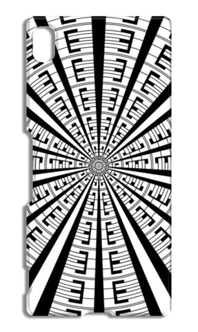 Abstract Geometric Black And White Radial Line Art Modern Design  Sony Xperia Z4 Cases | Artist : Seema Hooda