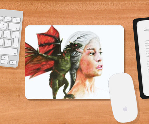 Mousepad, Khaleesi Game of Thrones Moudepad | Artist: Tridib Das, - PosterGully