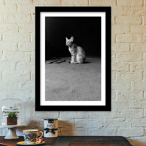 The Temple Cat Premium Italian Wooden Frames | Artist : Design Chanakya