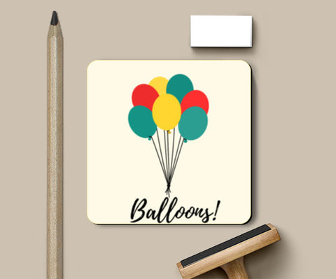 Colorful Balloons Coasters | Artist : Ankita Sharma
