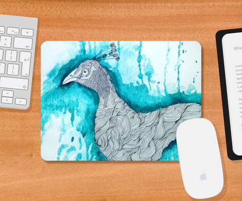 Mousepad, peacock,  illustration  Mousepad | Artist : Agyaat Naadji, - PosterGully
