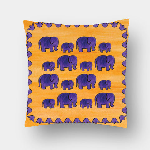 Cushion Covers, Elephants II Cushion Covers | Artist : Anuja Katti, - PosterGully