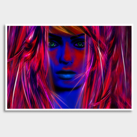 Miss psychedelic! Giant Poster | Artist : Jessica Maria