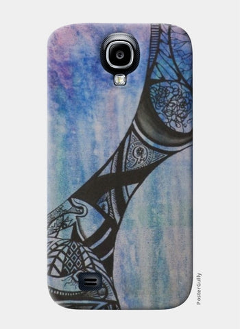 Samsung S4 Cases, Abstract Blue Samsung S4 Case | Artist: Rithikha Kalidos, - PosterGully