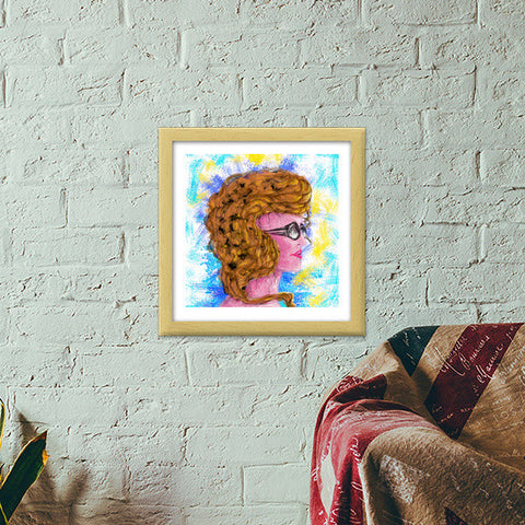 RADIANCE | beauty | girl | summer | colorful | woman | people | painting | sketches Premium Square Italian Wooden Frames | Artist : Jessica Maria
