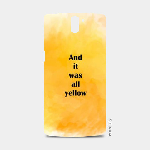 COLDPLAY : YELLOW One Plus One Cases | Artist : Kau.Vish