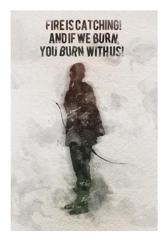 PosterGully Specials, The Hunger Games-Katniss Everdeen quotes Wall Art | Artist : Naeema Rezmin, - PosterGully