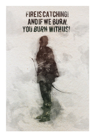 The Hunger Games-Katniss Everdeen quotes Wall Art | Artist : Naeema Rezmin