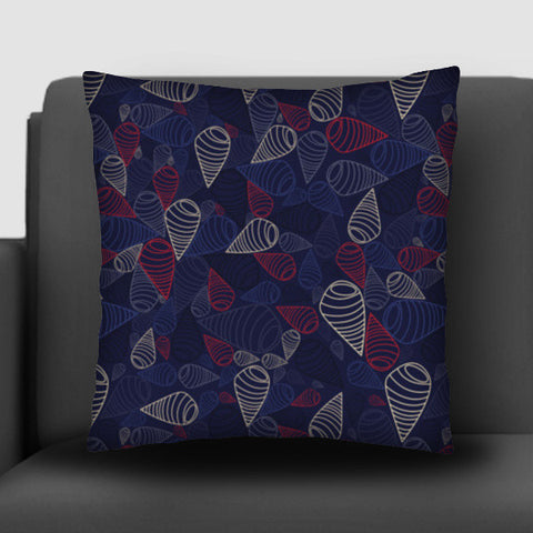 Swirls circles triangles seamless pattern on dark Cushion Covers | Artist : Designerchennai