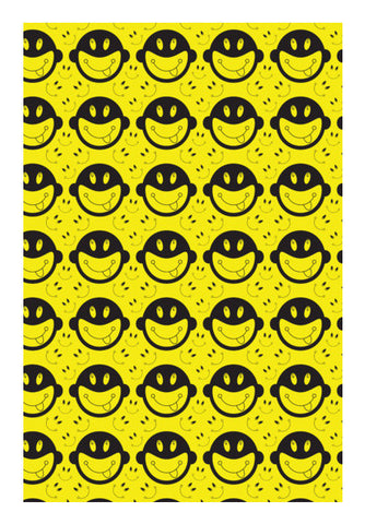 Monkey tongue out on black and yellow Wall Art | Artist : Designerchennai