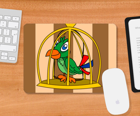 Mousepad, bird cage Mousepad | Artist : Anuj Goyal, - PosterGully