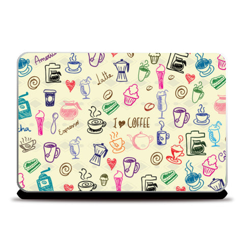 Laptop Skins, I Love Coffee Laptop Skin | Artist: Pratyusha Subramaniam, - PosterGully