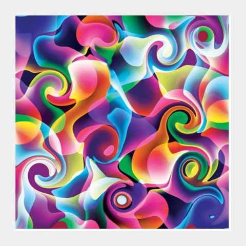 Colorful Abstract Swirls Square Art Prints PosterGully Specials