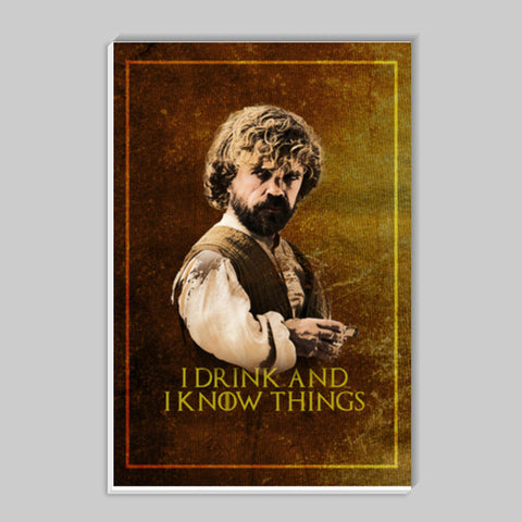 Game of Thrones | Tyrion Lannister | I Drink and I Know Things Stick Ons | Artist : Vivid Corner