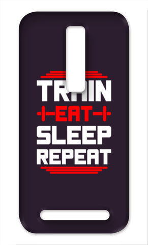 Train Eat Sleep Repeat Asus Zenfone 2 Cases | Artist : Designerchennai